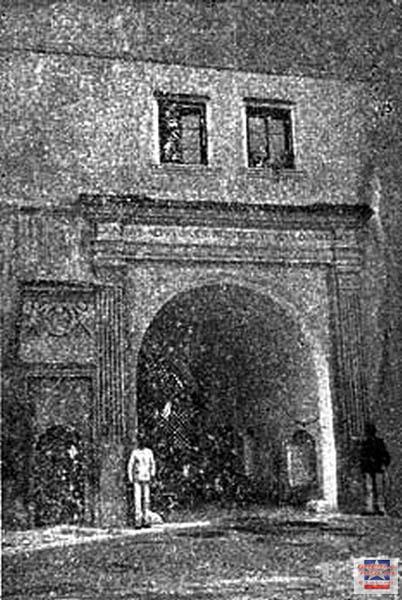Castelul Martinuzzi, poarta veche a cetatii 1903 gherla szamosujvar