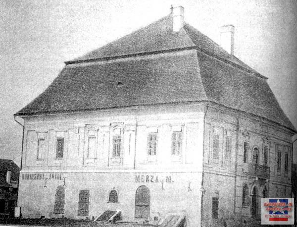 Cladirea primariei, demolata in 1893 gherla szamosujvar