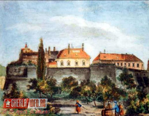 Gherla, cetate - pictura 1862