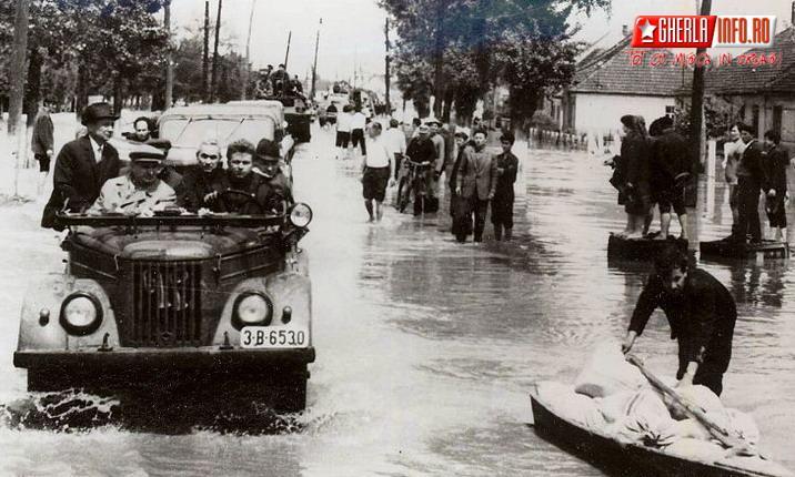 Ceausescu nicolae inundatii 1970 dej satu mare gherla cluj