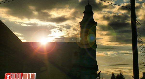 gherla centru soare biserica catedrala armeneasca szamosujvar apus
