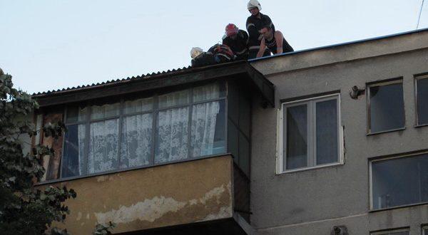 copil blocat pompieri interventie bloc gherla dej