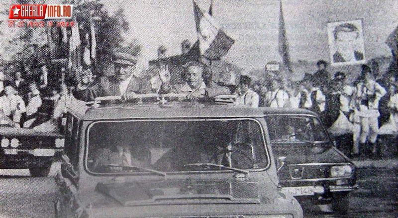 ceausescu nicolae cluj gherla vizita lucru 1983 faclia scanteia