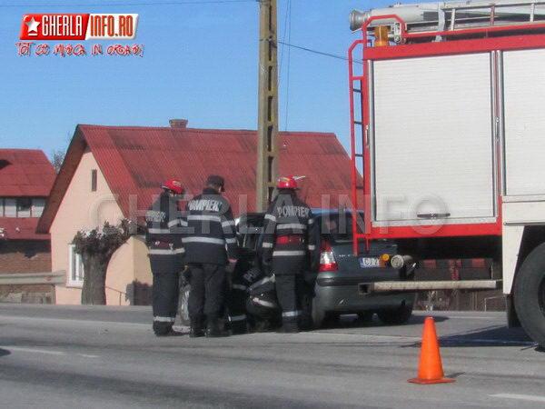 accident gherla bunesti cluj centura varianta car crash man citroen camion