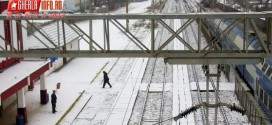 gherla gara iarna tren cfr statie