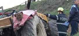 unguras tractor accident mort cazut rasturnat cluj dej
