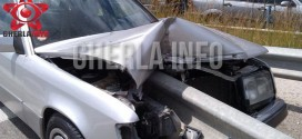 accident gherla mercedes parapet