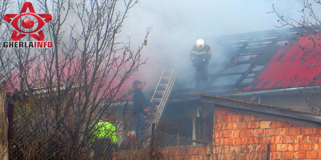 incendiu bunesti casa pompieri gherla