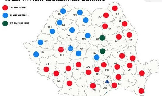rezultate alegeri prezidentiale judete