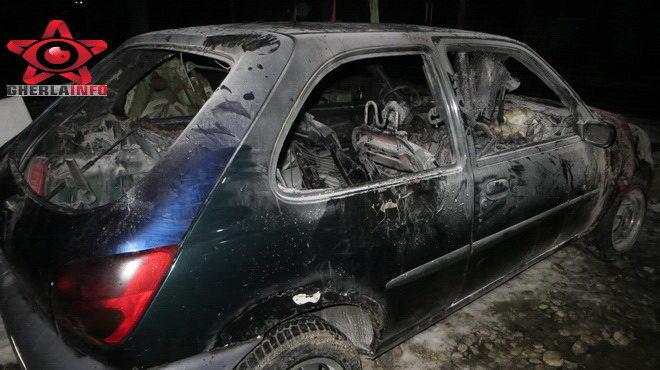 incendiu masina bontida ford isu cluj pompieri