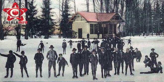 gherla patinoar lac parc iarna zapada 1908
