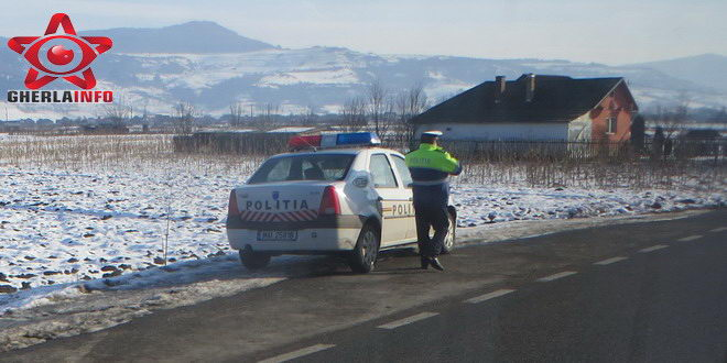 politie trafic control politist gherla cluj masina
