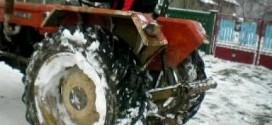 tractor iarna zapada