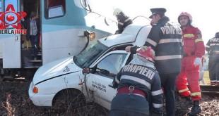 accident tren baia mare maramures mortal pompieri