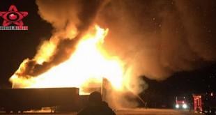 incendiu service auto bistrita nasaud ciceu mihaiesti pompieri dej