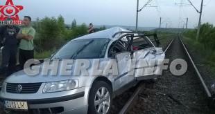 accident jucu masina tren lovita cluj