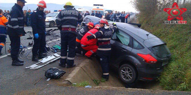 accident gherla livada vadanesti masina ford sant pompieri dej