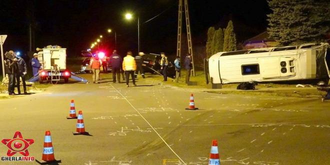 accident ungaria microbuz gherla cluj pusztaszer
