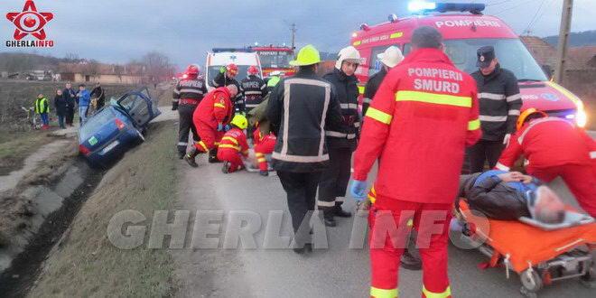 accident fundatura mortal cluj logan sant smurd pompieri