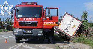 accident camion rasturnat sant livada cluj pompieri dej