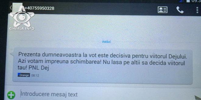 sms pnl dej psd cluj alegeri locale 2016