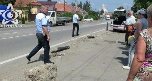 accident gherla maisna stalpi strada clujului politie