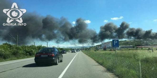 incendiu apahida dn1c cluj sosea fum negru