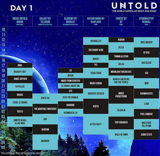 untold 2016 cluj program