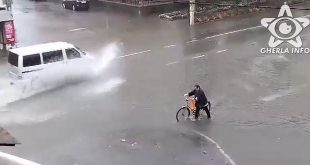 ploaie gherla sosea inundata