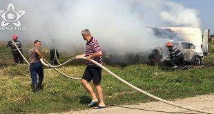 incendiu masina jucu pompieri cluj