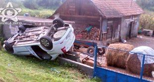 masina rasturnata accident jucu