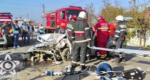 accident fundatura renault pompieri dej cluj