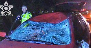 accident parbriz spart politie bmw bontida cluj