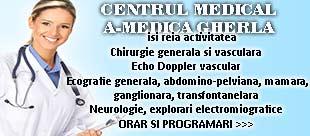 centru medical a-medica gherla telefon programare chirurgie generala vasculara echo doppler ecografie neurologie dej cluj