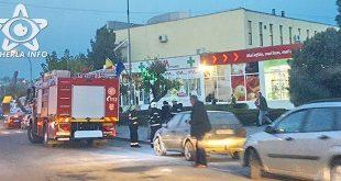 incendiu masina dej pompieri