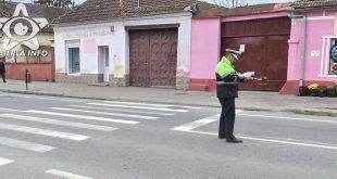 politie gherla accident politist constatare