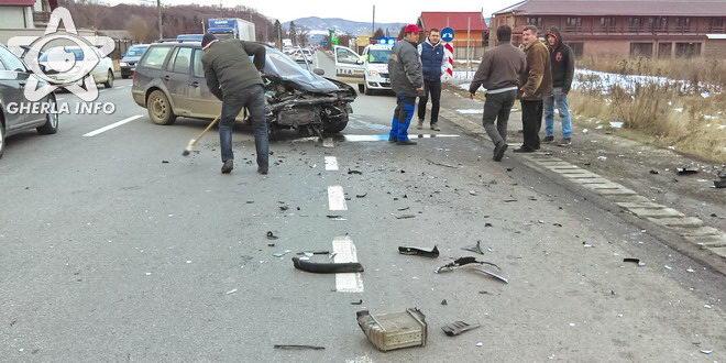 accident gherla strada clujului volkswagen ford