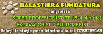 locuri de munca gherla iclod cluj excavatorist buldozerist balastiera sofer salariu