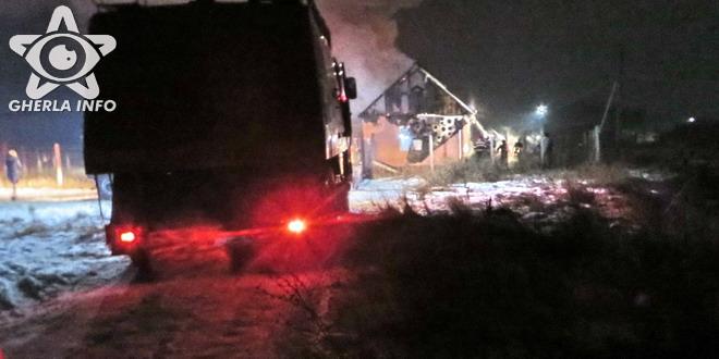 incendiu bunesti pompieri dej cluj