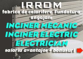 locuri de munca gherla dej cluj iclod fundatura iirom fabrica calorifere salariu inginer electric mecanic