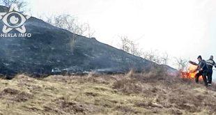 incendiu deal vegetatie targusor cluj pompieri dej