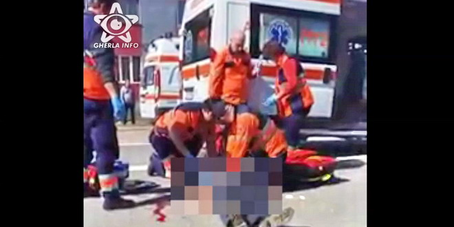 accident caseiu mortal ambulanta medic gherla cluj