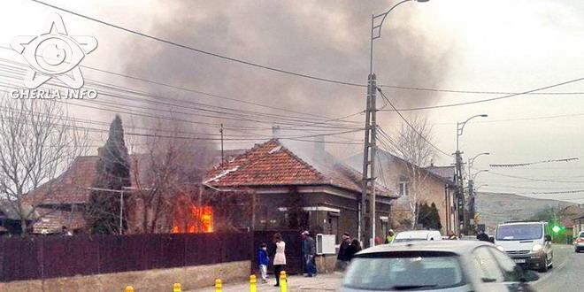 incendiu casa apahida pompieri cluj