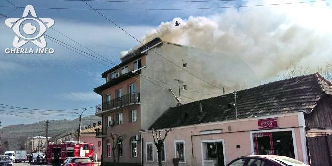 incendiu anaf finante gherla acoperis cluj