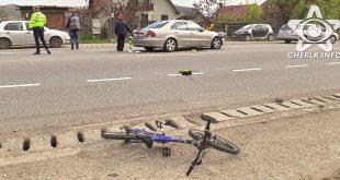 accident gherla strada clujului mercedes politie bicicleta