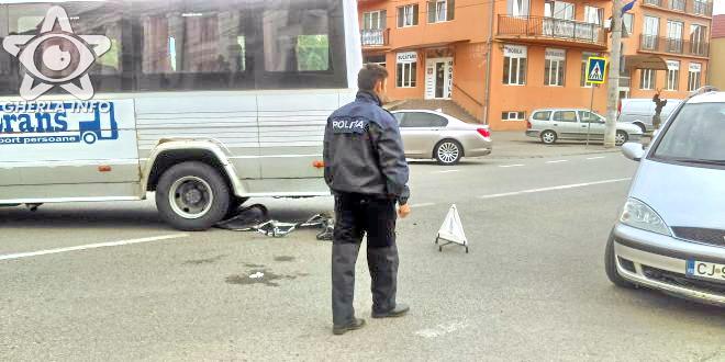 accident gherla microbus bustrans bicicleta politie