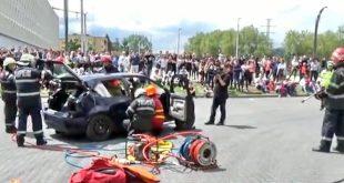 accident cluj isu pompieri simulare
