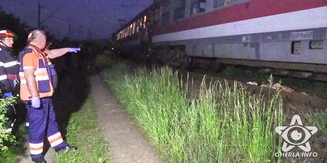 accident tren femeie lovita cluj