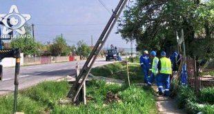 accident fundatura cluj stalp electricitate rupt