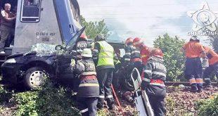 accident tren bistrita masina viisoara pompieri